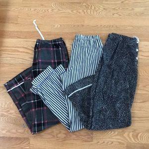 SIMPLY VERA by VERA WANG set of flannel pj pants